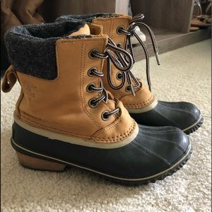 Brown Sorel Rubber Boots